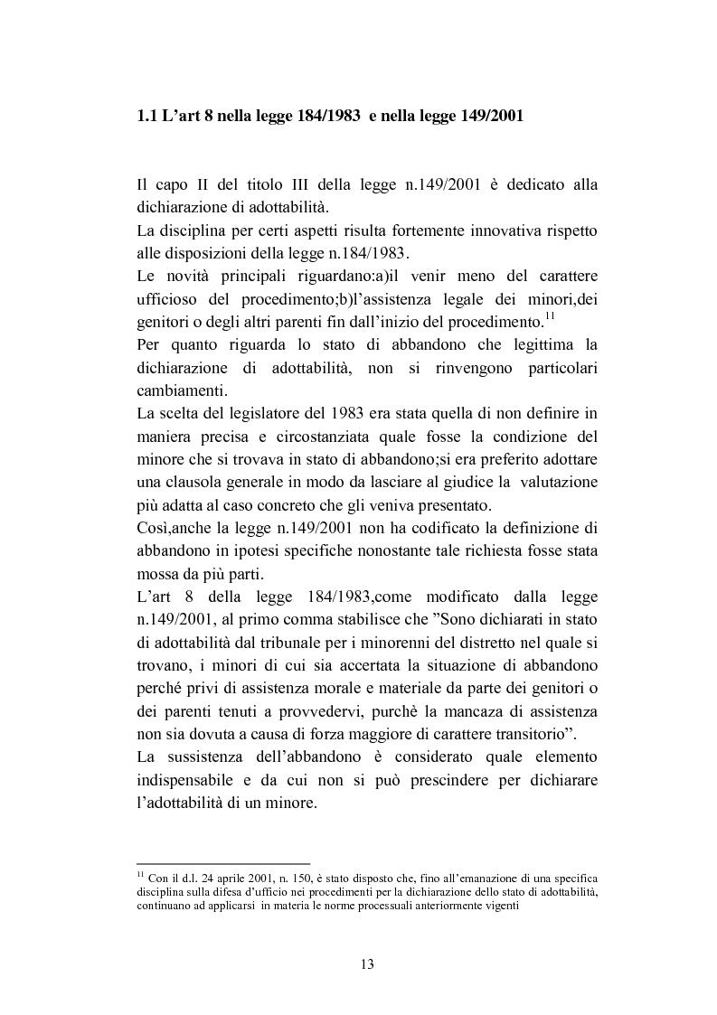 Anteprima della tesi: L'abbandono dei minori, Pagina 13