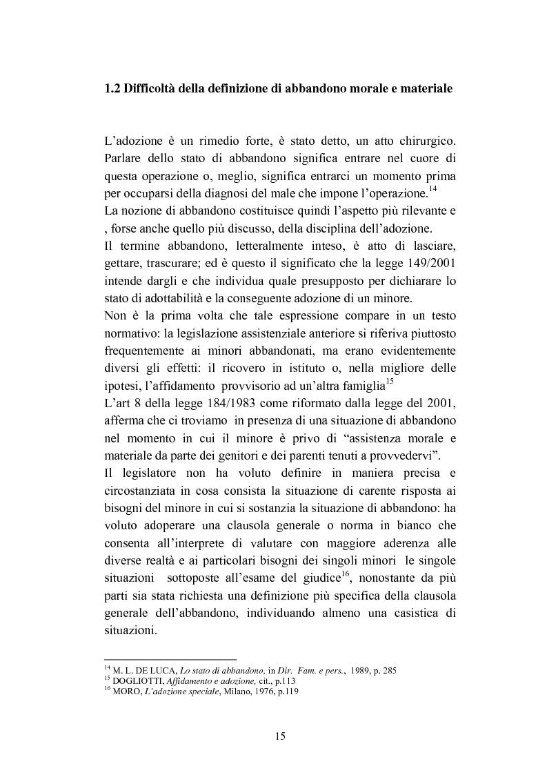 Anteprima della tesi: L'abbandono dei minori, Pagina 15