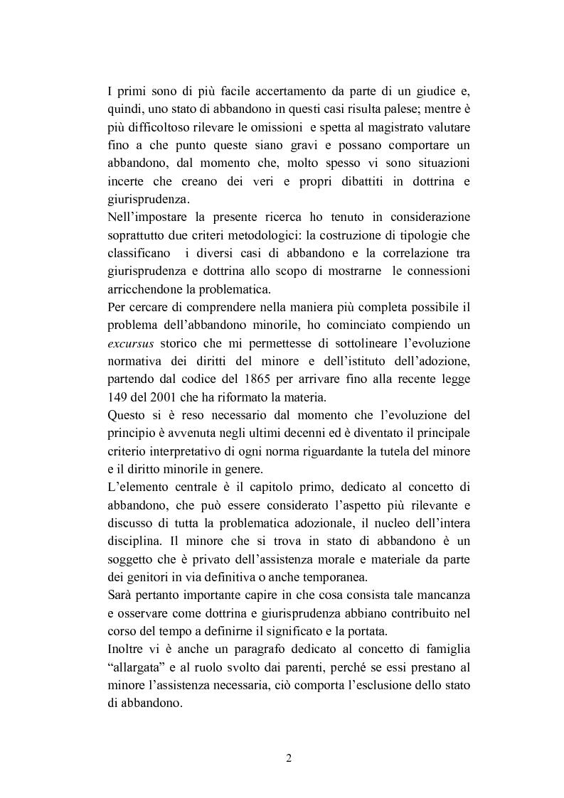 Anteprima della tesi: L'abbandono dei minori, Pagina 2