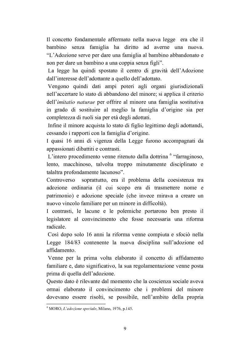 Anteprima della tesi: L'abbandono dei minori, Pagina 9