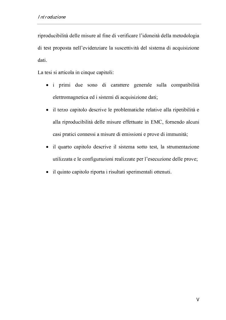 Anteprima della tesi: Ripetibilità e riproducibilità nelle misure di immunità condotta su sistemi di acquisizione dati di tipo Pc-Based, Pagina 5