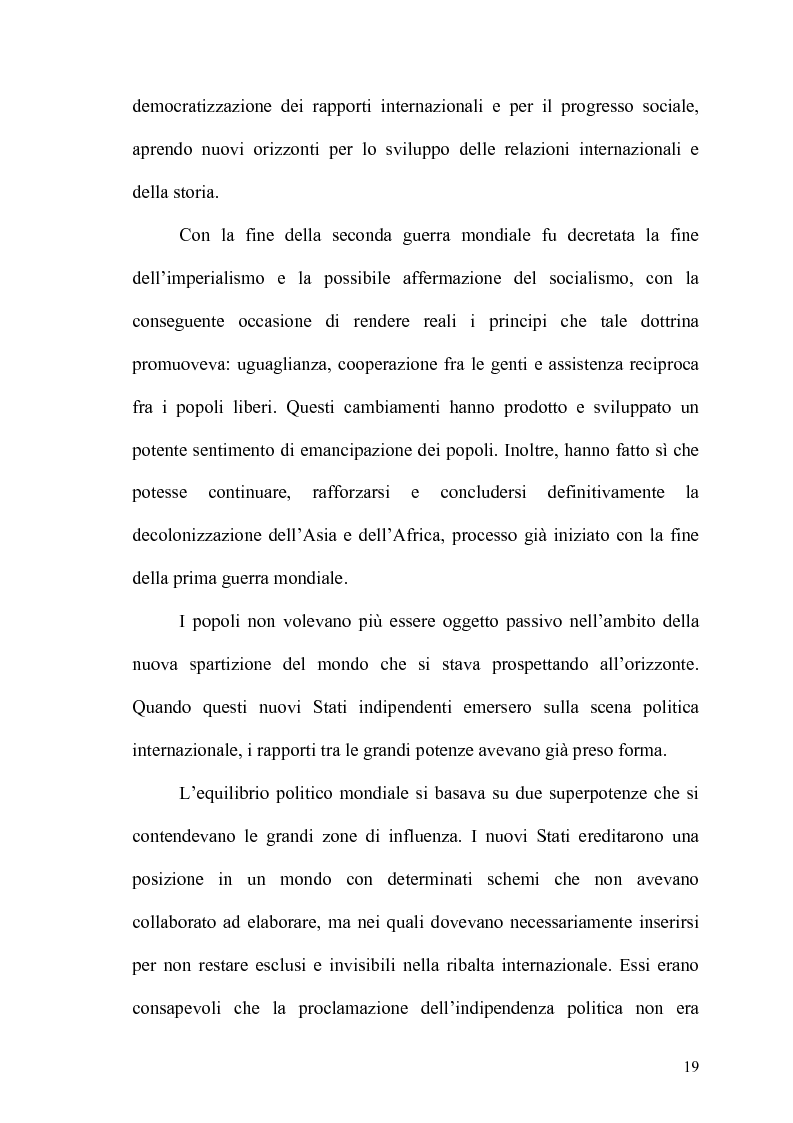 Anteprima della tesi: Gli Stati dell'Africa Sub-Sahariana e la politica del non allineamento: dall'indipendenza alla caduta del muro di Berlino, Pagina 12