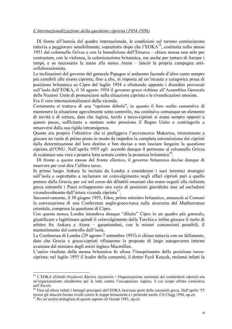 Anteprima della tesi: Storia diplomatica della questione cipriota e sua incidenza sui rapporti euro-turchi, Pagina 11