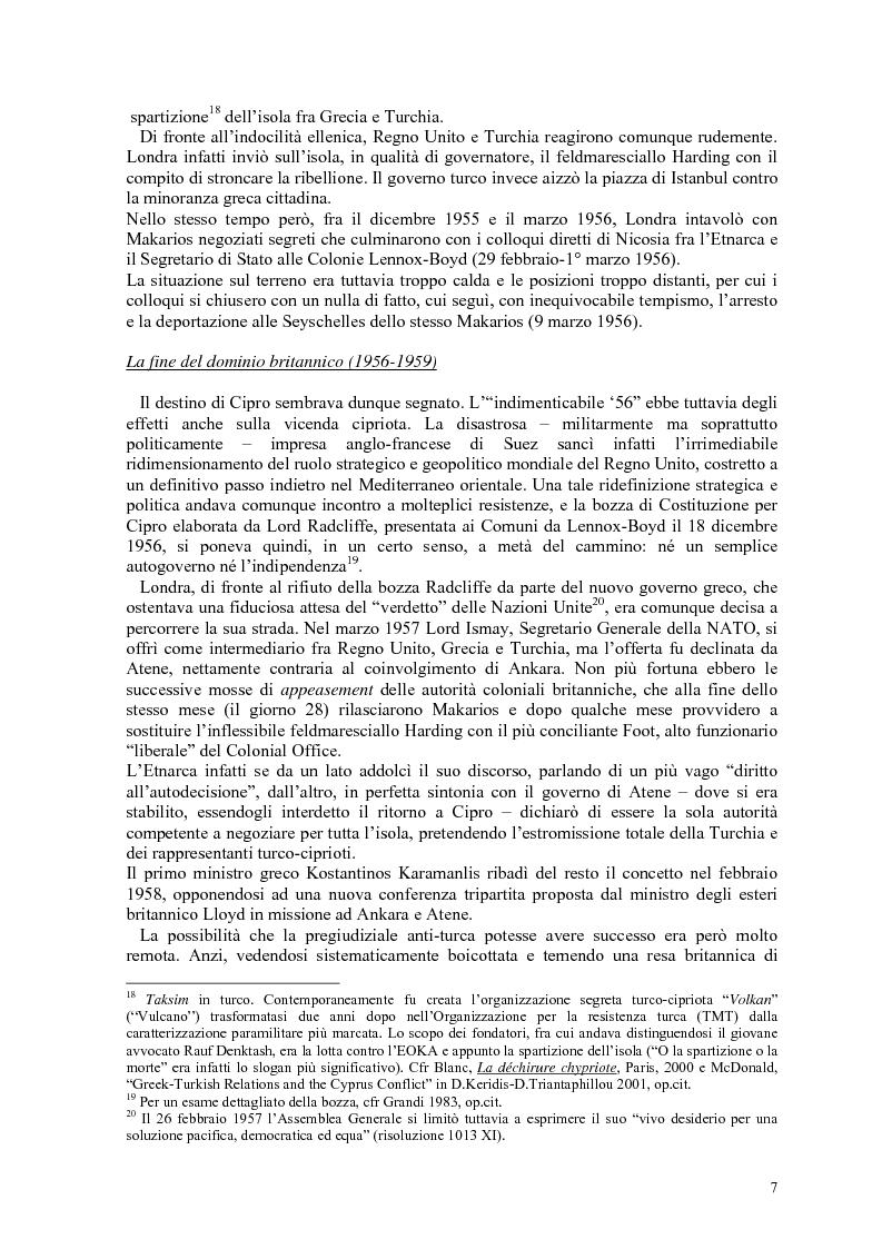 Anteprima della tesi: Storia diplomatica della questione cipriota e sua incidenza sui rapporti euro-turchi, Pagina 12