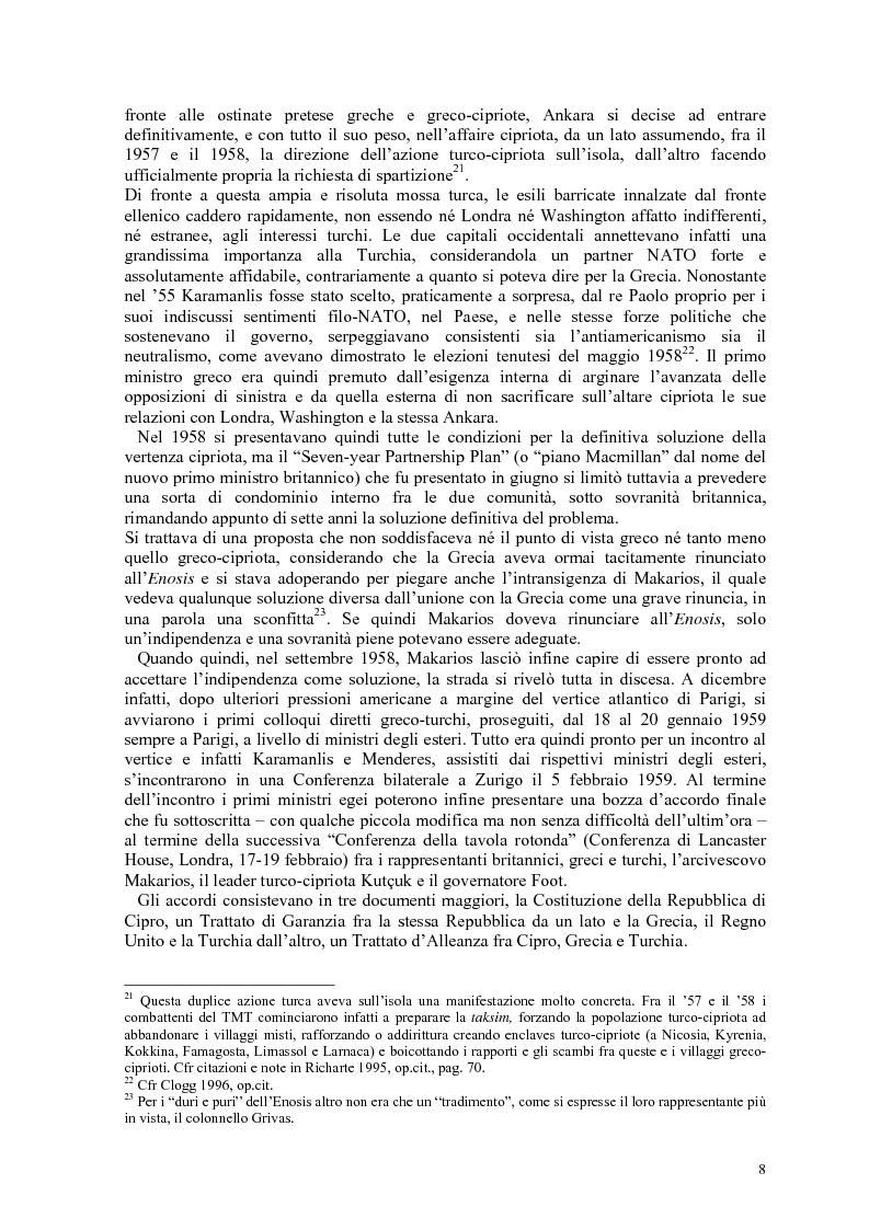 Anteprima della tesi: Storia diplomatica della questione cipriota e sua incidenza sui rapporti euro-turchi, Pagina 13