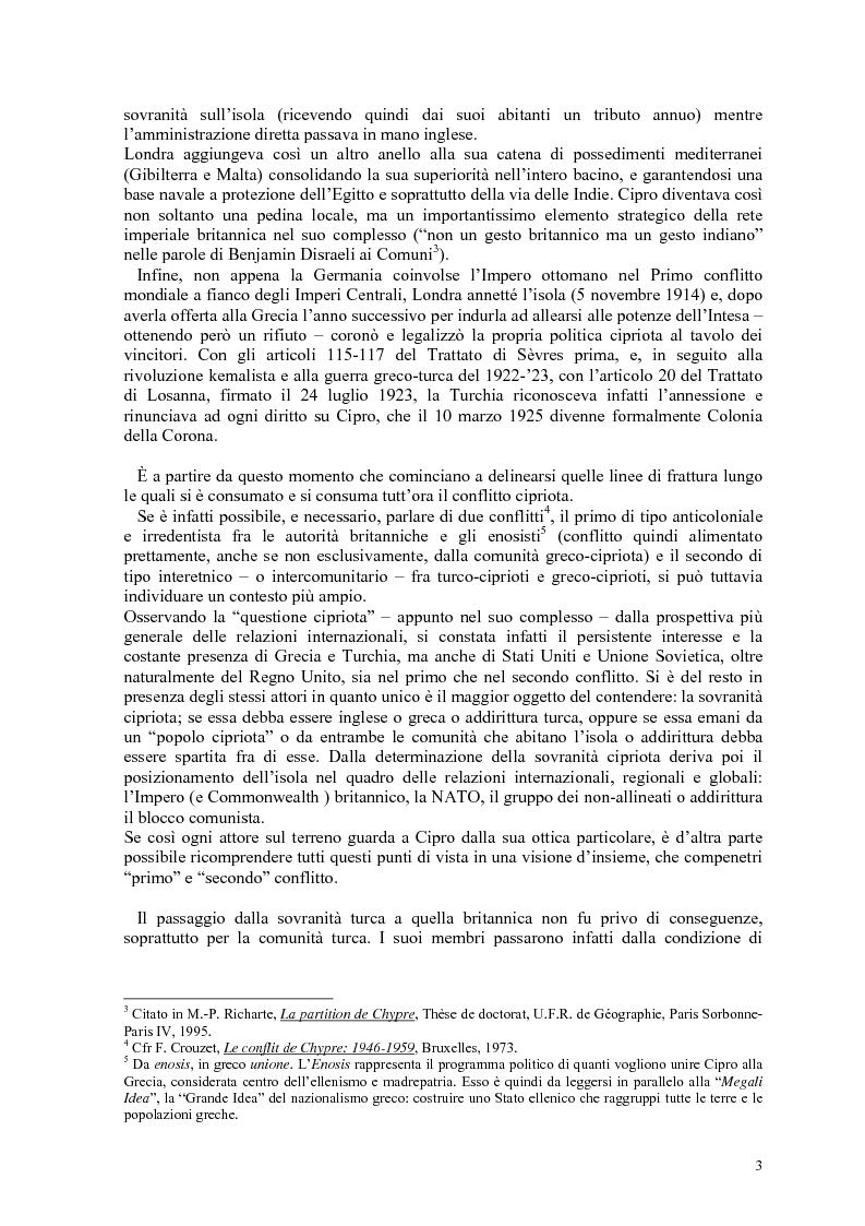 Anteprima della tesi: Storia diplomatica della questione cipriota e sua incidenza sui rapporti euro-turchi, Pagina 8