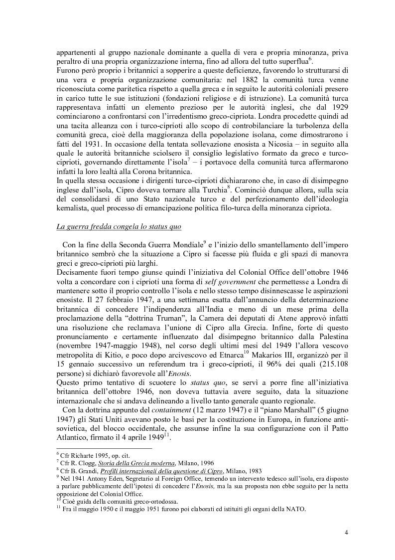 Anteprima della tesi: Storia diplomatica della questione cipriota e sua incidenza sui rapporti euro-turchi, Pagina 9
