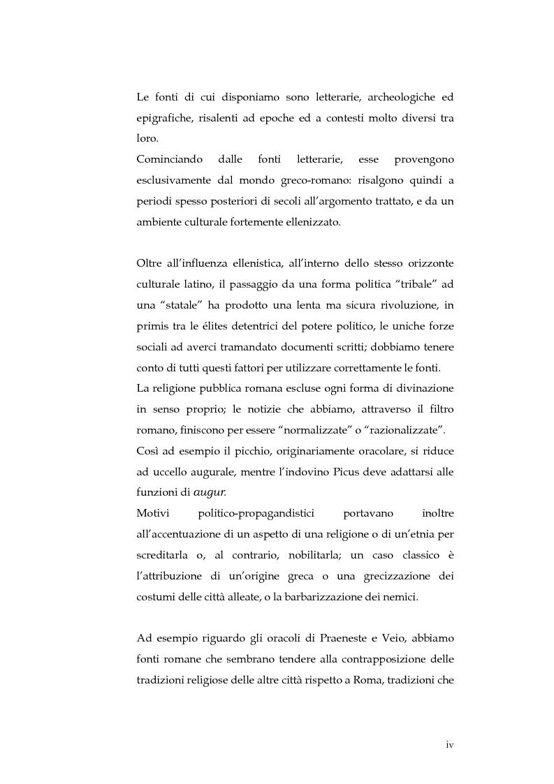 Anteprima della tesi: Sortes e oracoli nell'Italia antica, Pagina 2