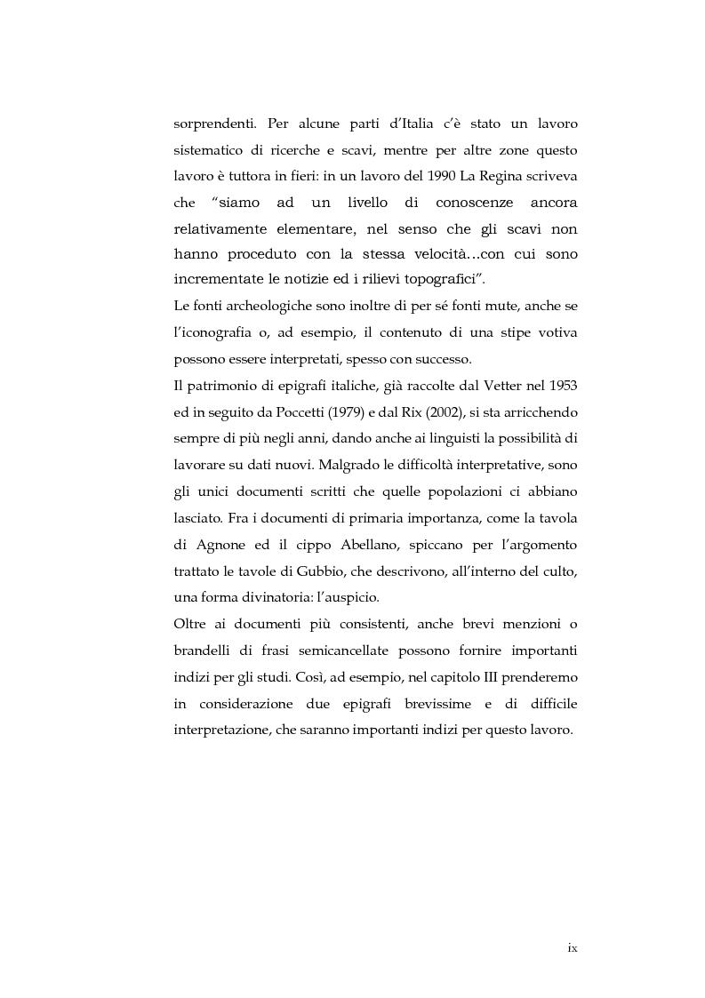 Anteprima della tesi: Sortes e oracoli nell'Italia antica, Pagina 7
