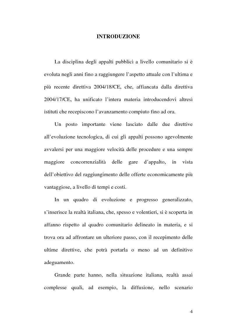 Anteprima della tesi: La normativa comunitaria in materia di appalti pubblici, Pagina 1