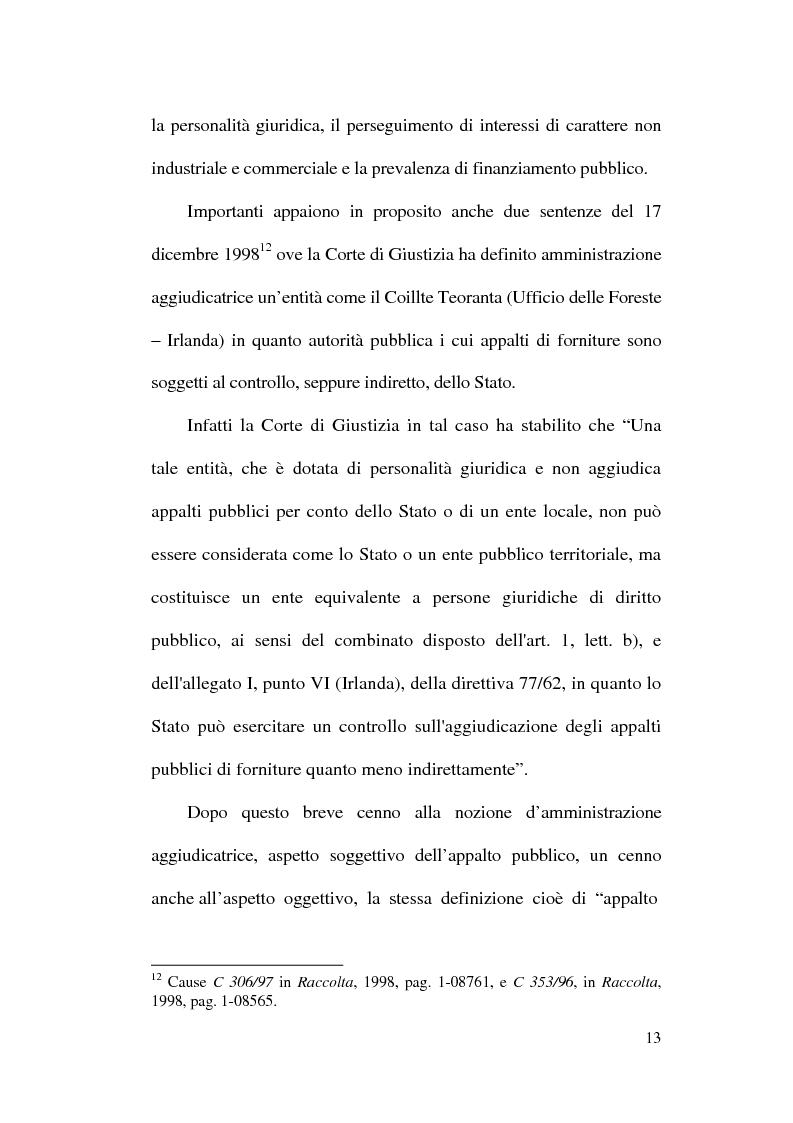 Anteprima della tesi: La normativa comunitaria in materia di appalti pubblici, Pagina 10