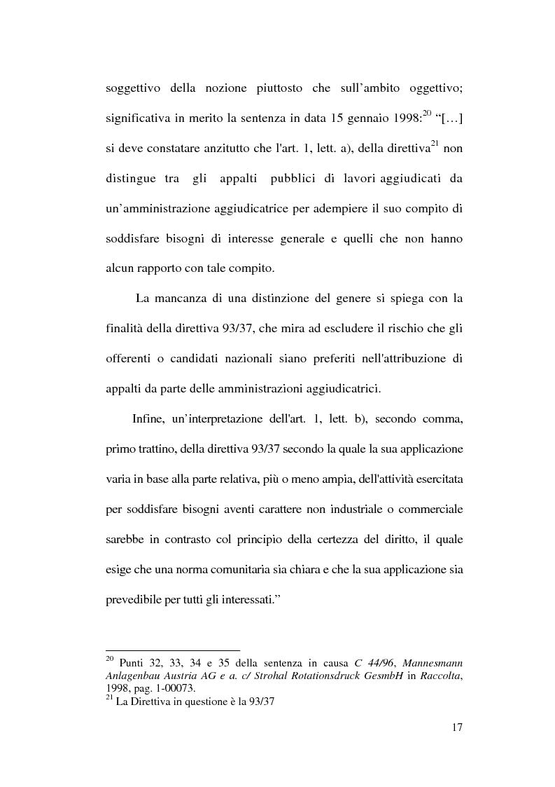 Anteprima della tesi: La normativa comunitaria in materia di appalti pubblici, Pagina 14
