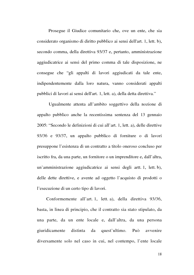 Anteprima della tesi: La normativa comunitaria in materia di appalti pubblici, Pagina 15