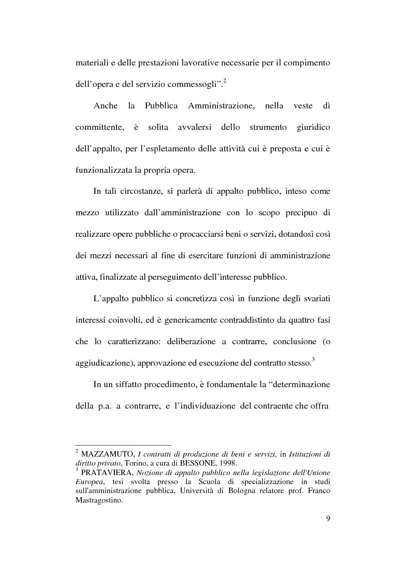 Anteprima della tesi: La normativa comunitaria in materia di appalti pubblici, Pagina 6