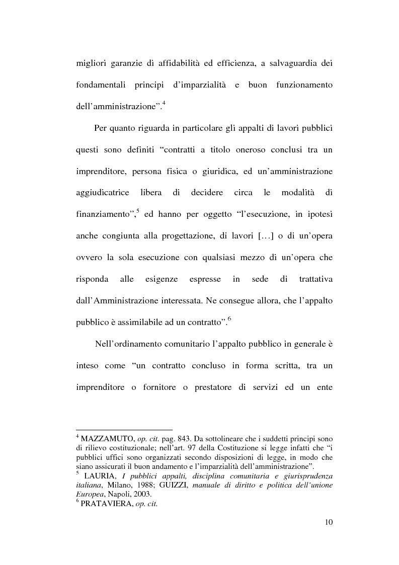 Anteprima della tesi: La normativa comunitaria in materia di appalti pubblici, Pagina 7