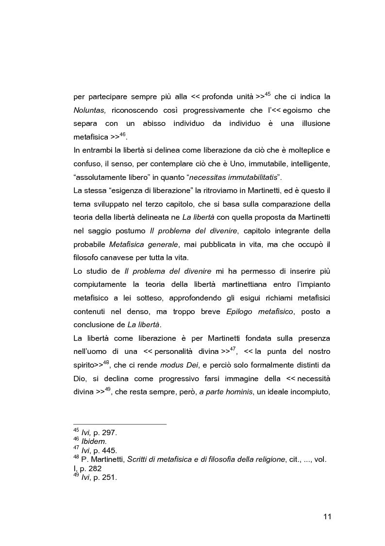 Anteprima della tesi: Il problema della libertà in Piero Martinetti, Pagina 11