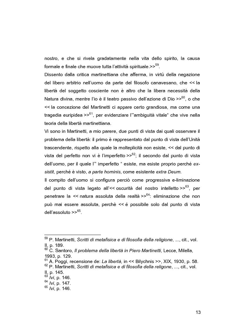 Anteprima della tesi: Il problema della libertà in Piero Martinetti, Pagina 13