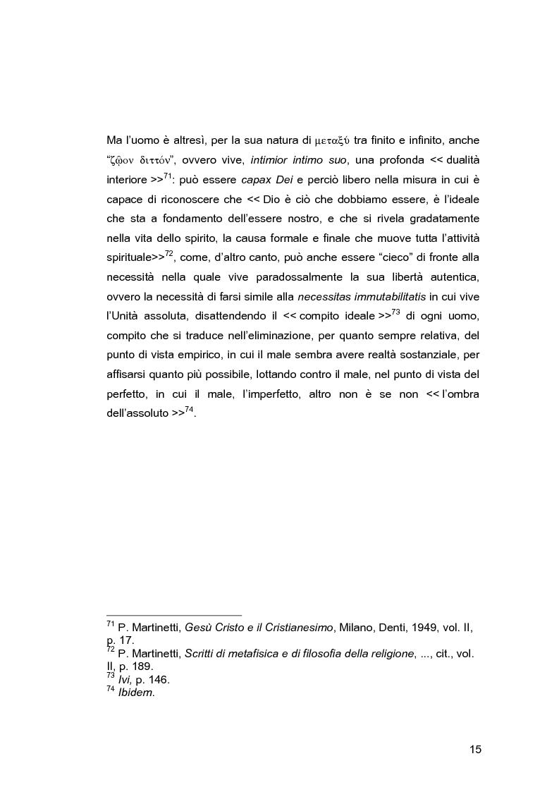 Anteprima della tesi: Il problema della libertà in Piero Martinetti, Pagina 15