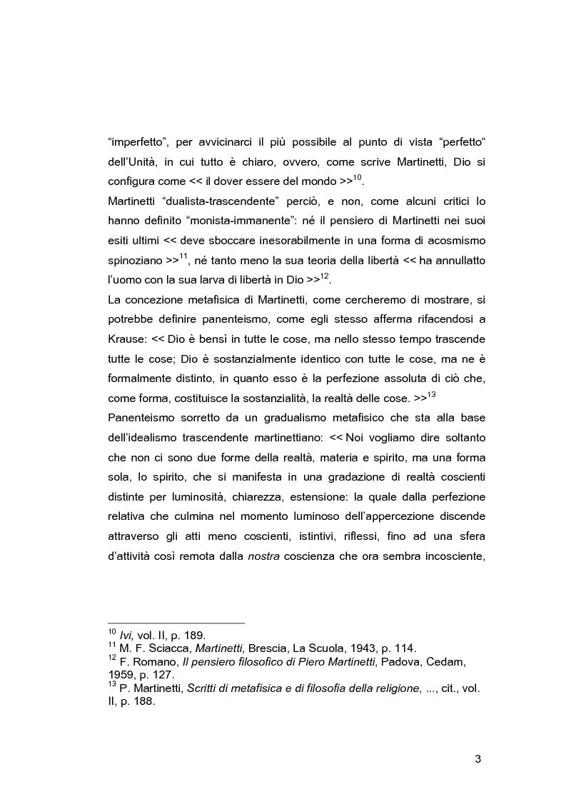 Anteprima della tesi: Il problema della libertà in Piero Martinetti, Pagina 3
