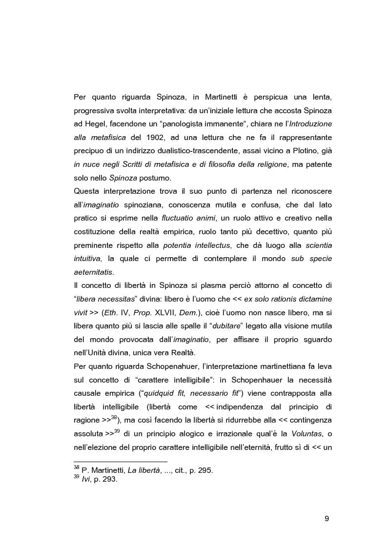 Anteprima della tesi: Il problema della libertà in Piero Martinetti, Pagina 9