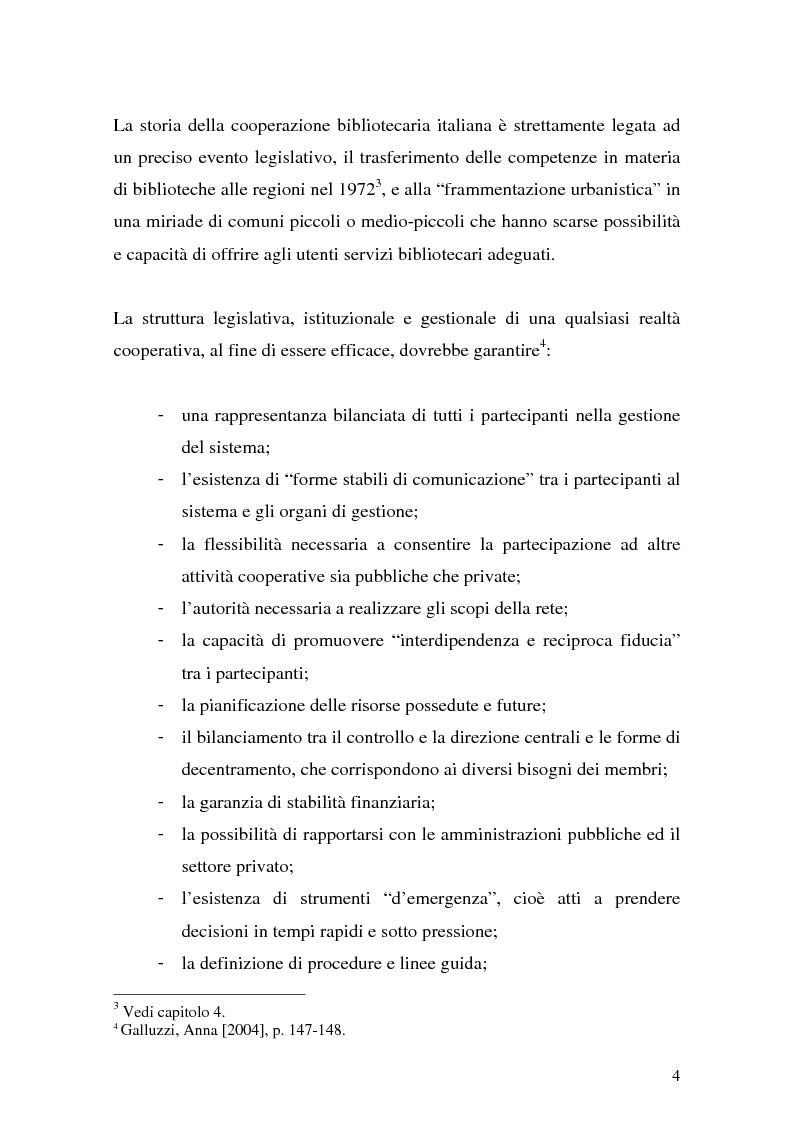 Anteprima della tesi: La cooperazione fra biblioteche pubbliche: sistemi e centri servizi, Pagina 2