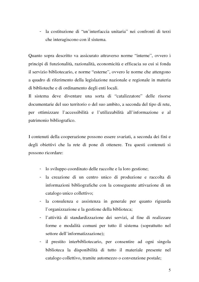 Anteprima della tesi: La cooperazione fra biblioteche pubbliche: sistemi e centri servizi, Pagina 3