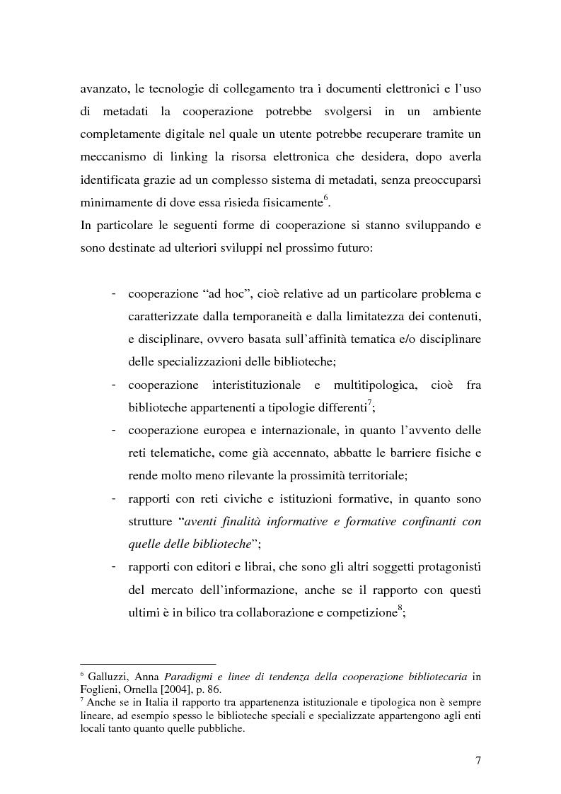 Anteprima della tesi: La cooperazione fra biblioteche pubbliche: sistemi e centri servizi, Pagina 5