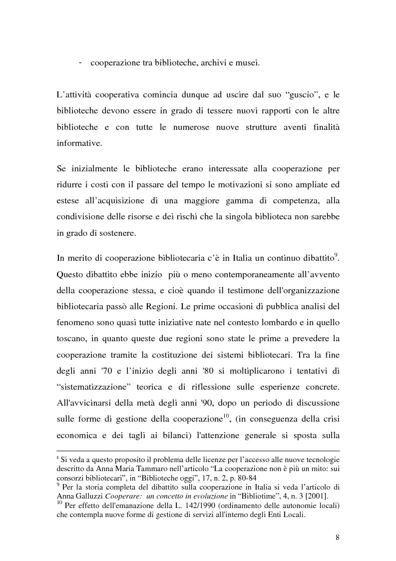 Anteprima della tesi: La cooperazione fra biblioteche pubbliche: sistemi e centri servizi, Pagina 6