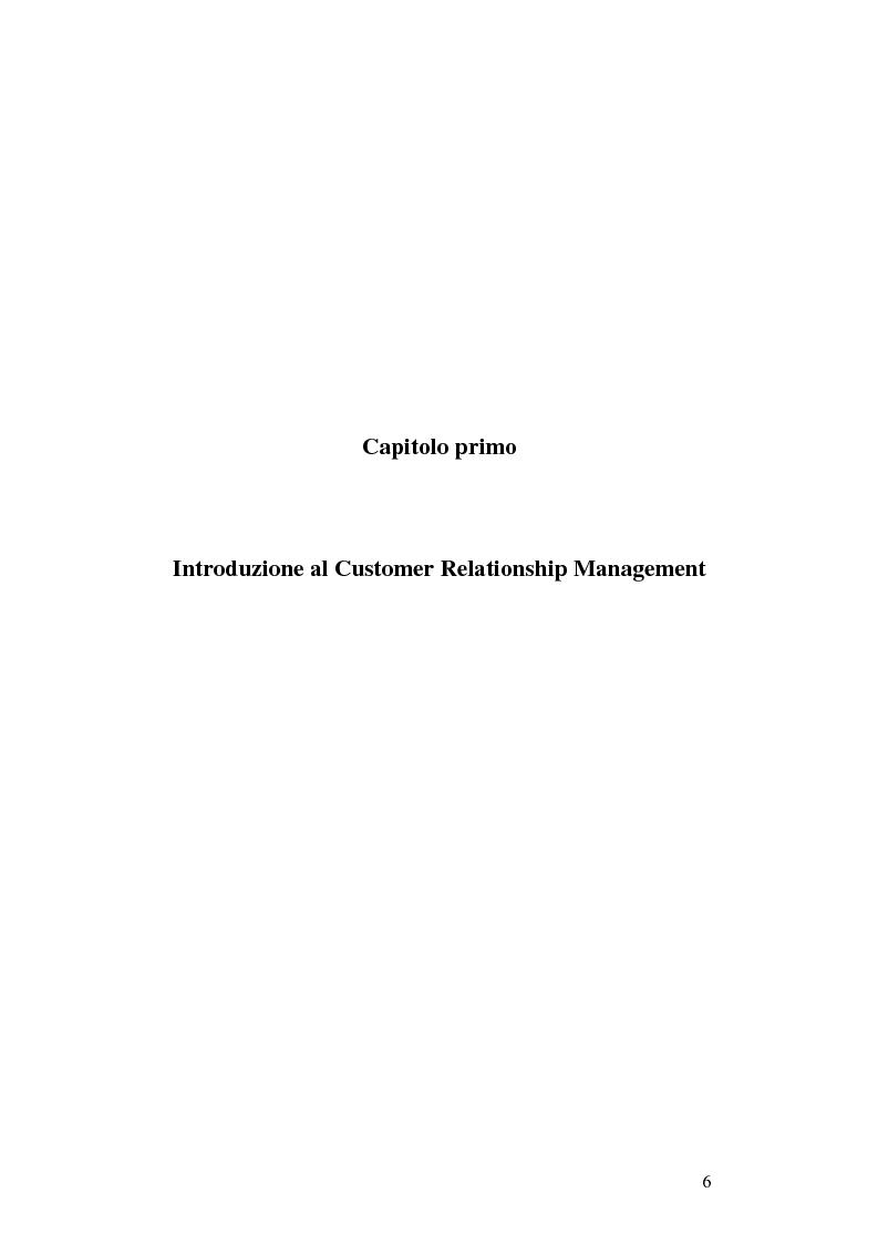 Anteprima della tesi: CRM e sistemi informativi a supporto, Pagina 2