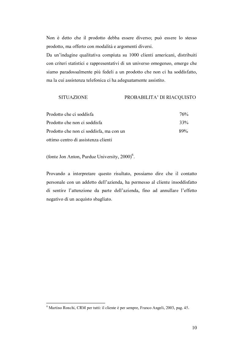 Anteprima della tesi: CRM e sistemi informativi a supporto, Pagina 6
