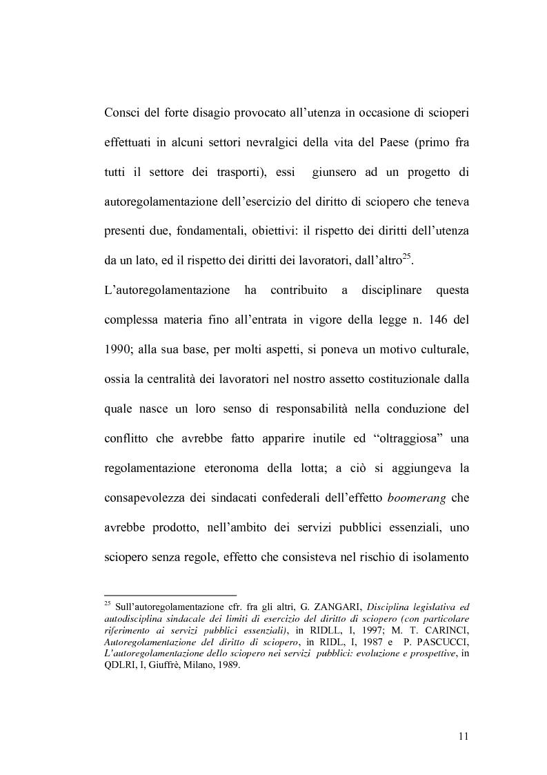 Anteprima della tesi: Sciopero nei servizi pubblici essenziali ed apparato sanzionatorio, Pagina 11