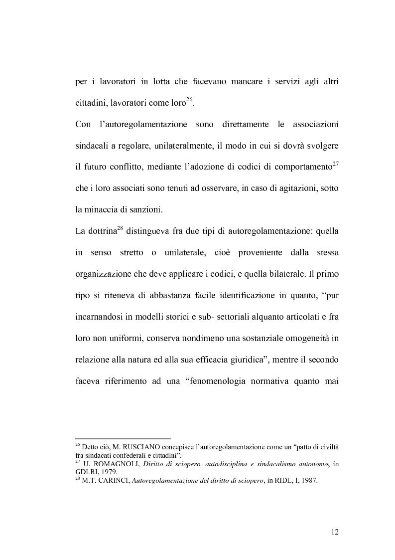 Anteprima della tesi: Sciopero nei servizi pubblici essenziali ed apparato sanzionatorio, Pagina 12