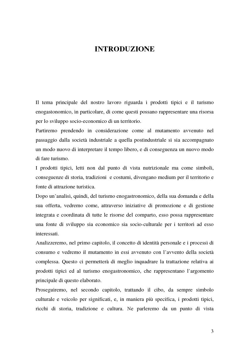 Anteprima della tesi: Prodotti tipici e turismo enogastronomico: come valorizzare un territorio, Pagina 1