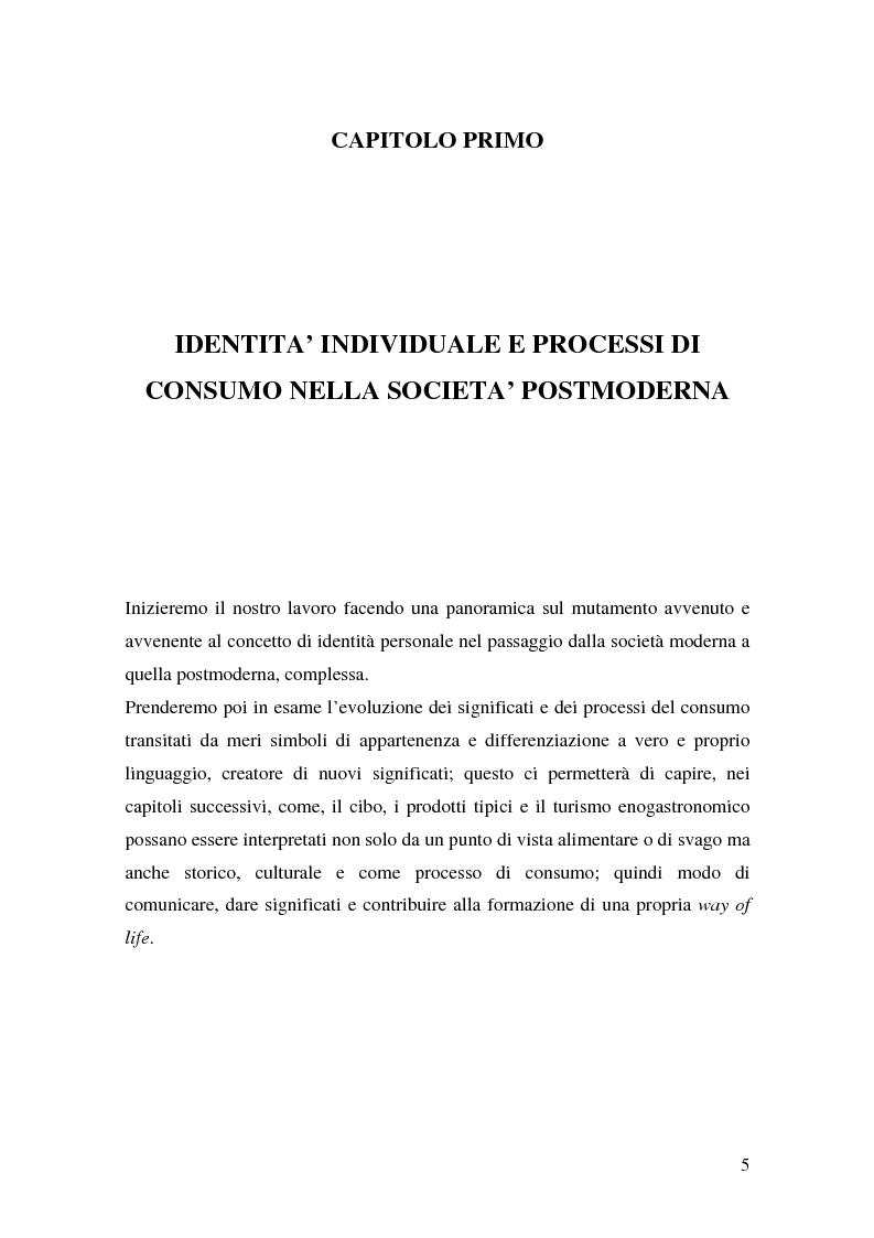 Anteprima della tesi: Prodotti tipici e turismo enogastronomico: come valorizzare un territorio, Pagina 3