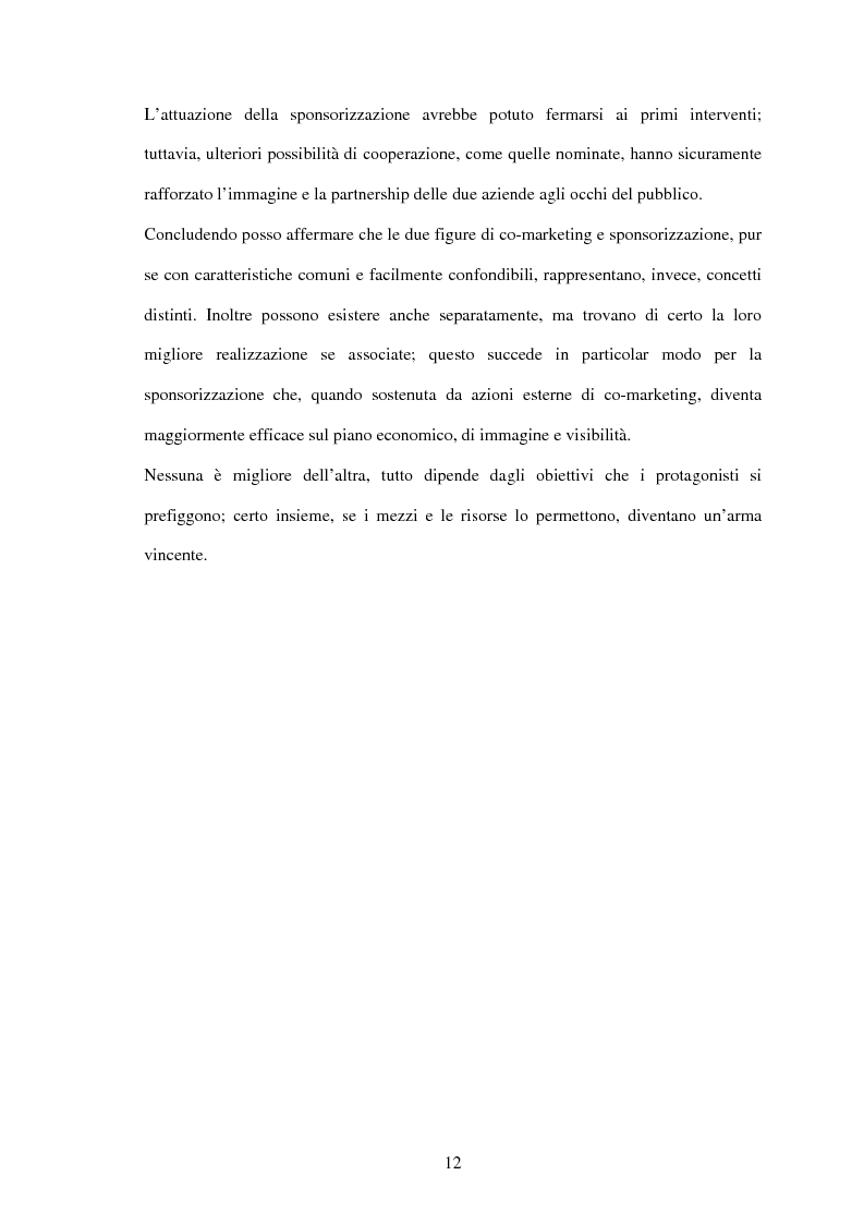 Anteprima della tesi: Il settore sportivo tra co-marketing e sponsorizzazione: il caso Ducati-Fila, Pagina 10