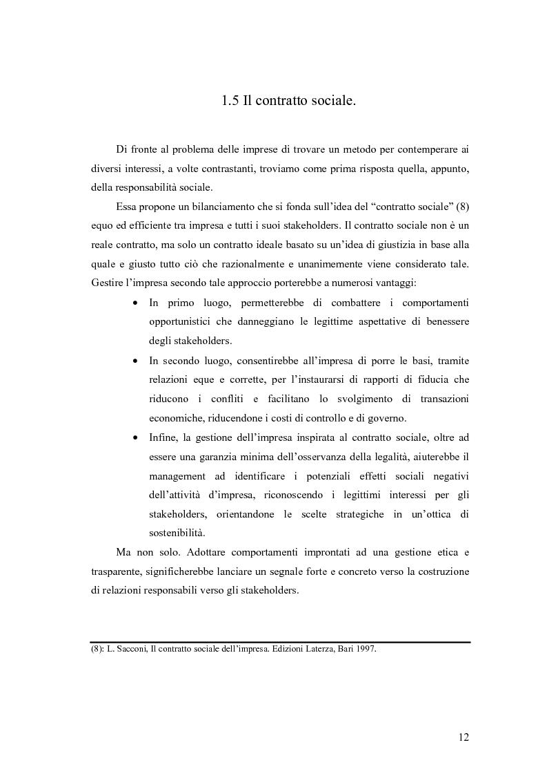 Anteprima della tesi: La responsabilità sociale delle imprese nel settore agroalimentare; il caso della C. Fiorucci spa, Pagina 12
