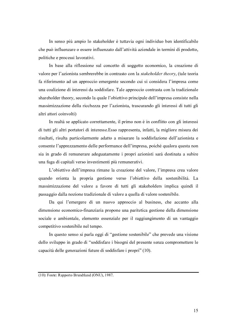 Anteprima della tesi: La responsabilità sociale delle imprese nel settore agroalimentare; il caso della C. Fiorucci spa, Pagina 15