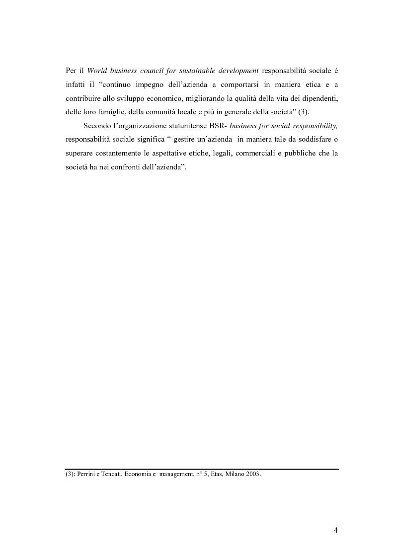 Anteprima della tesi: La responsabilità sociale delle imprese nel settore agroalimentare; il caso della C. Fiorucci spa, Pagina 4