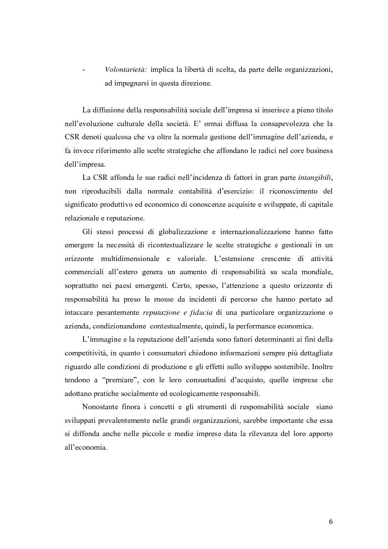Anteprima della tesi: La responsabilità sociale delle imprese nel settore agroalimentare; il caso della C. Fiorucci spa, Pagina 6