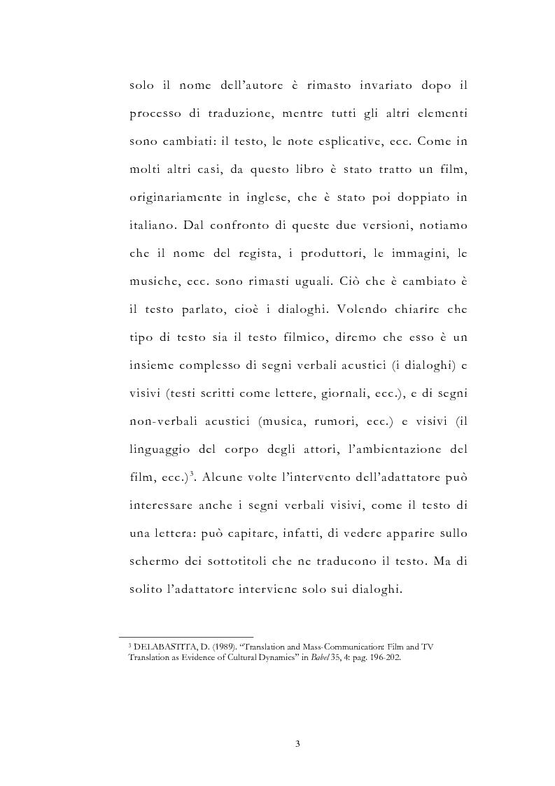 Anteprima della tesi: Traduzione filmica e adattamento al pubblico d'arrivo: il caso della versione italiana di ''Four Weddings and a Funeral'', Pagina 3