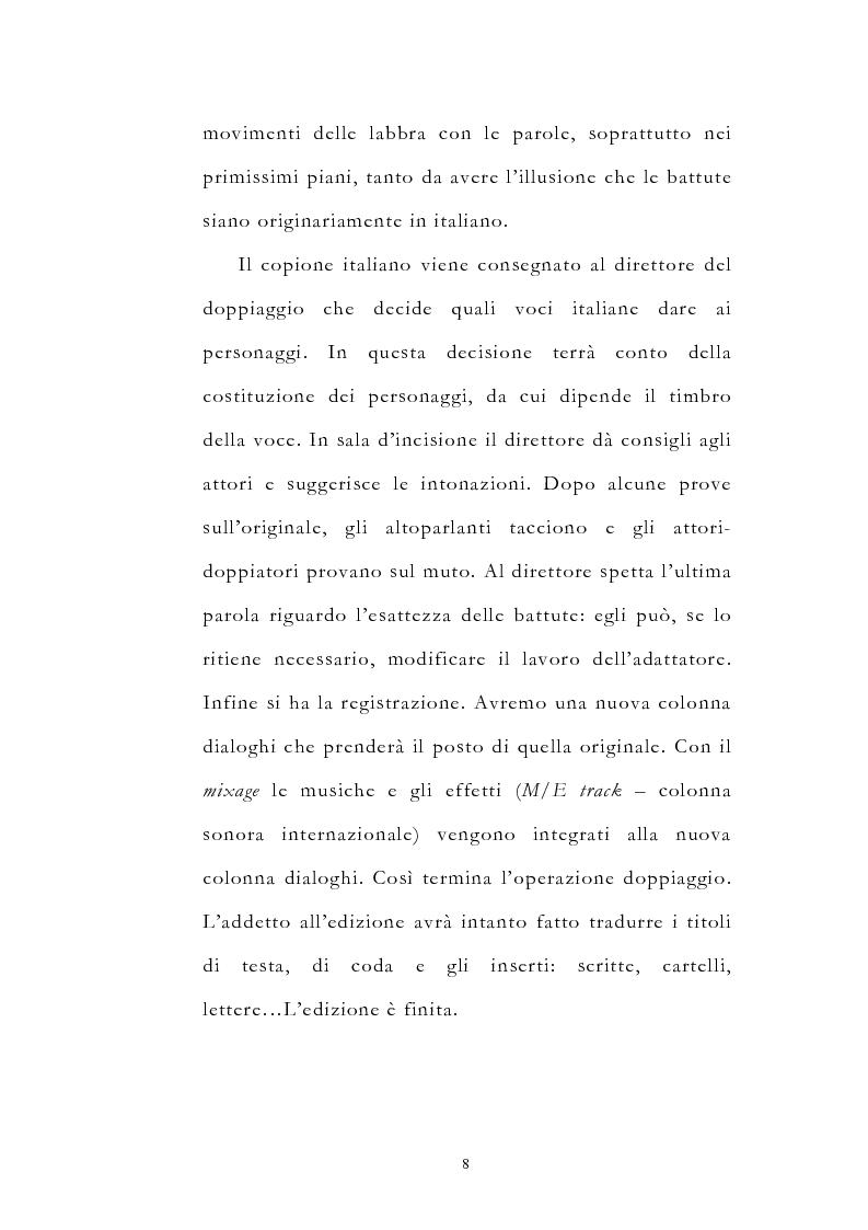 Anteprima della tesi: Traduzione filmica e adattamento al pubblico d'arrivo: il caso della versione italiana di ''Four Weddings and a Funeral'', Pagina 8