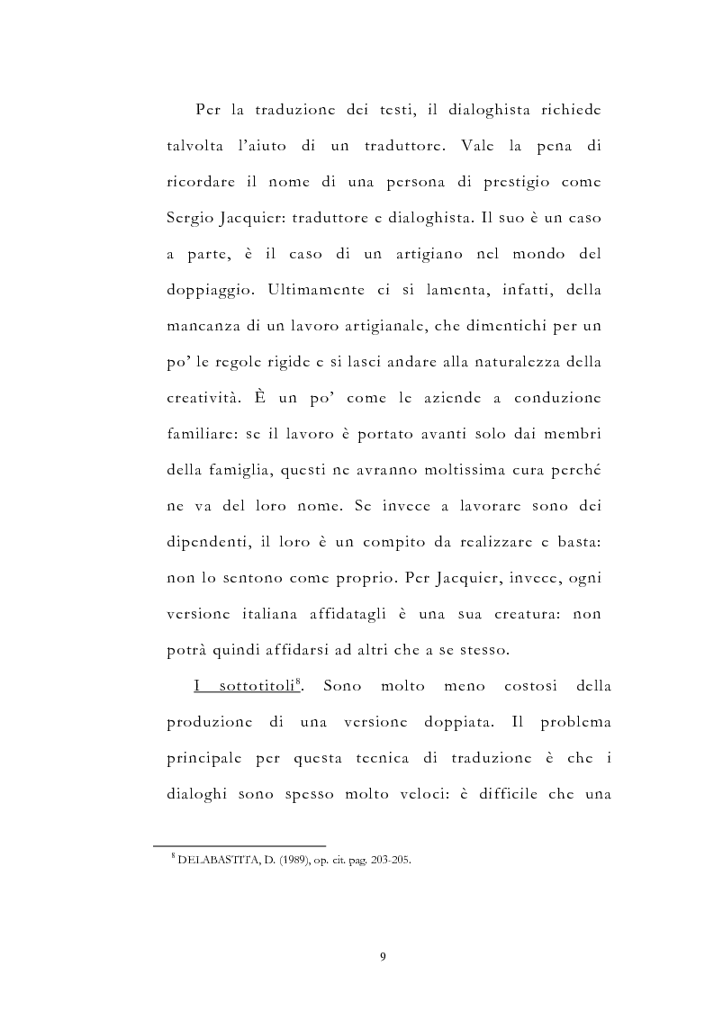 Anteprima della tesi: Traduzione filmica e adattamento al pubblico d'arrivo: il caso della versione italiana di ''Four Weddings and a Funeral'', Pagina 9