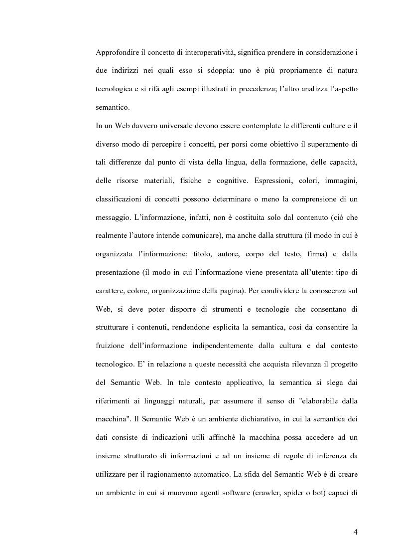 Anteprima della tesi: Interoperatività e intercreatività in rete: dall'uso della semantica alla costruzione di conoscenza condivisa, Pagina 4