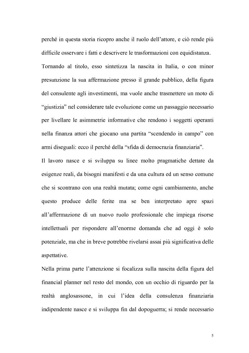 Anteprima della tesi: Il consulente di investimento: una sfida di democrazia finanziaria, Pagina 2