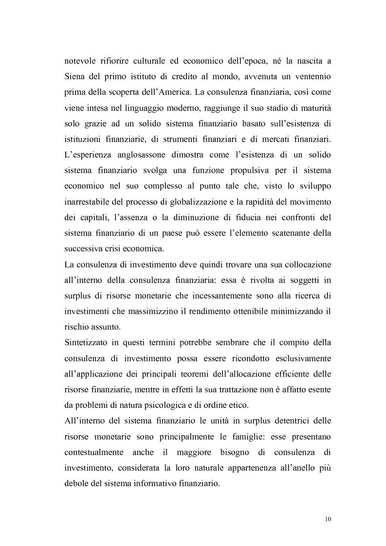 Anteprima della tesi: Il consulente di investimento: una sfida di democrazia finanziaria, Pagina 7