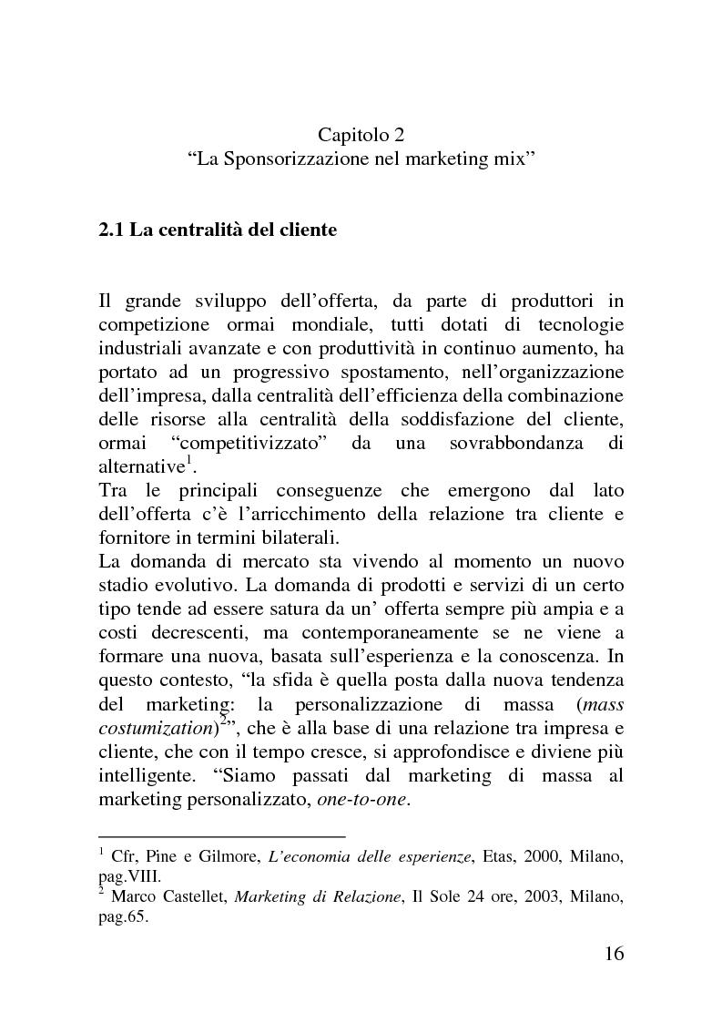Anteprima della tesi: Il mercato delle sponsorizzazioni culturali in Italia, i casi Corriere della Sera e Vodafone, Pagina 12