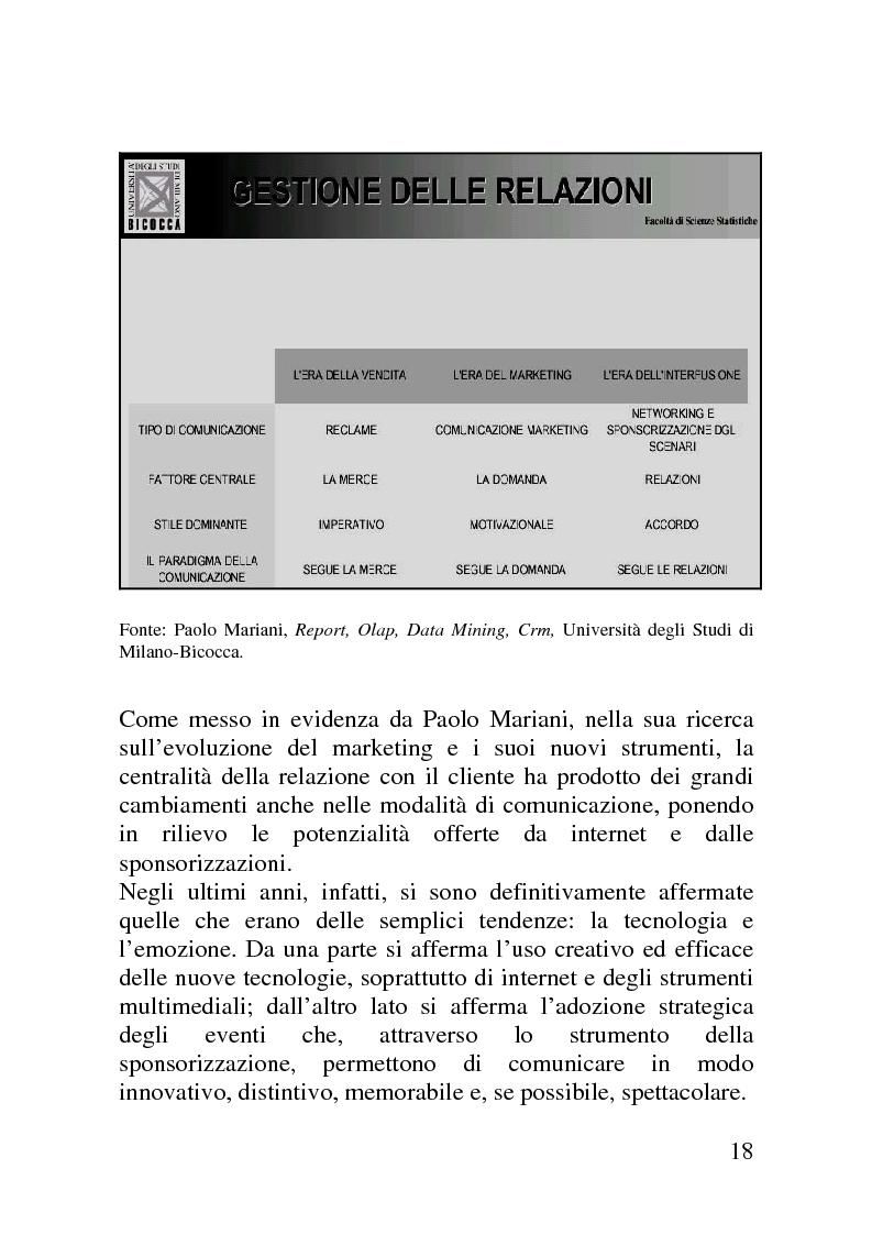 Anteprima della tesi: Il mercato delle sponsorizzazioni culturali in Italia, i casi Corriere della Sera e Vodafone, Pagina 14