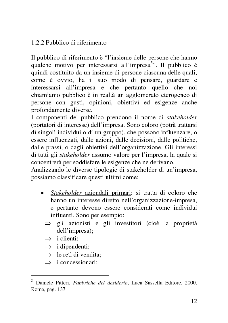 Anteprima della tesi: Il mercato delle sponsorizzazioni culturali in Italia, i casi Corriere della Sera e Vodafone, Pagina 8