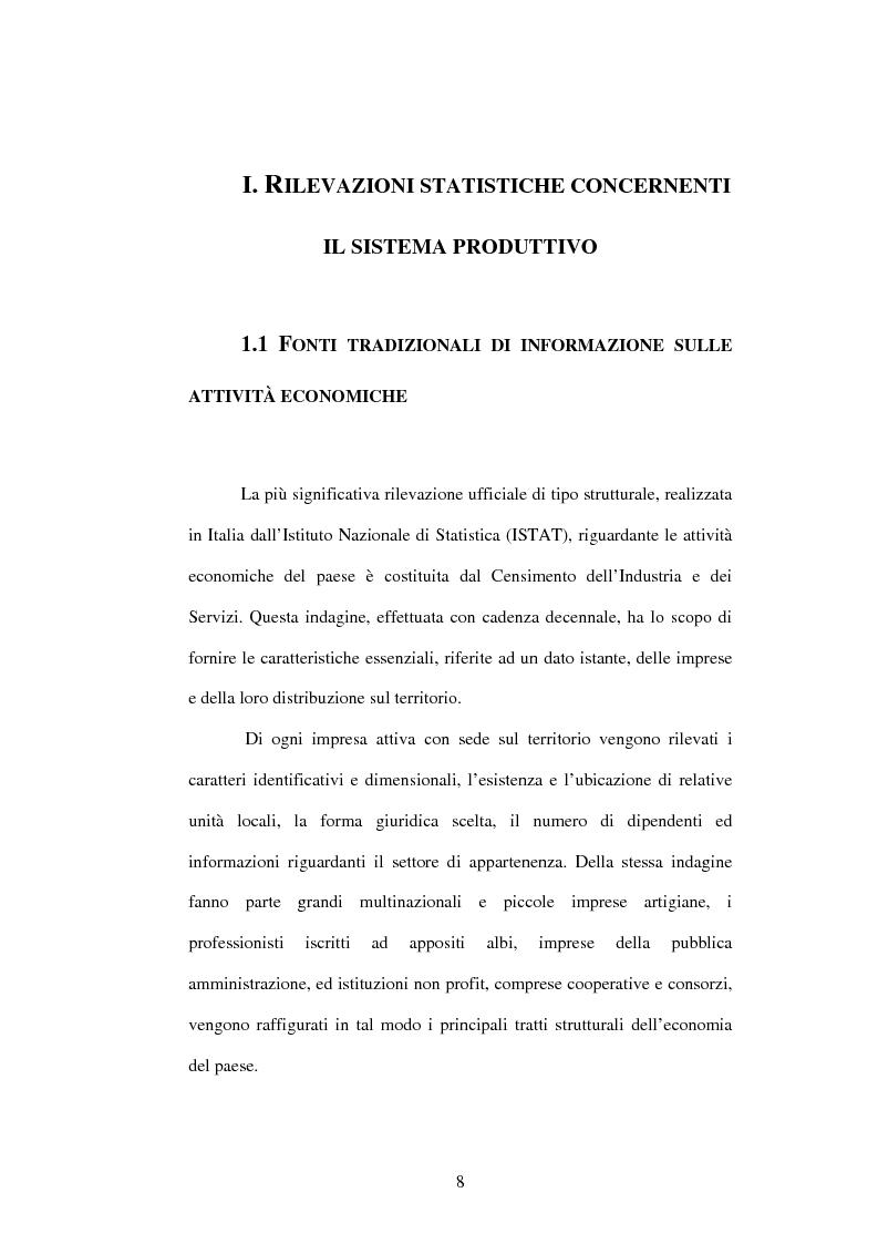 Anteprima della tesi: Dati su imprese e gruppi d'impresa: dagli archivi amministrativi alle fonti statistiche, Pagina 4