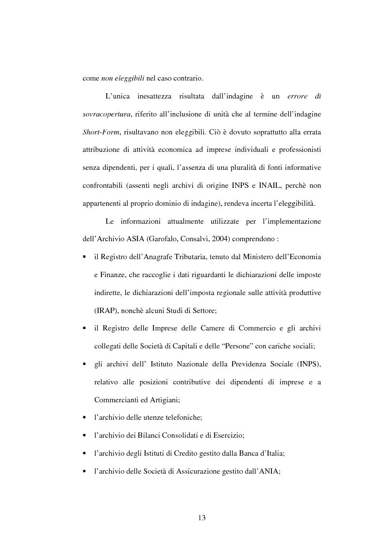 Anteprima della tesi: Dati su imprese e gruppi d'impresa: dagli archivi amministrativi alle fonti statistiche, Pagina 9